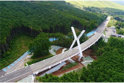 熊本高森線桑鶴大橋復旧工事